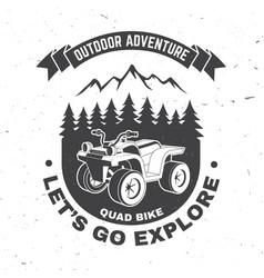 Let s go explore summer camp concept vector
