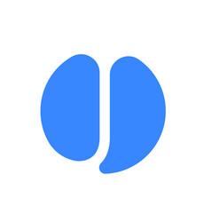 letter j logo blue font icon vector image