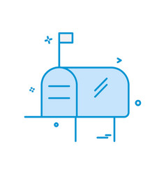 mailbox icon design vector image