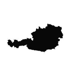 map austria isolated black vector image