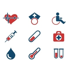 Medical simply icons vector image