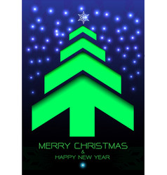 Merry christmas happy new year green arrow blue vector