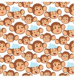 Monkeys rare animal cartoon macaque like vector