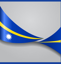 Nauru wavy flag vector