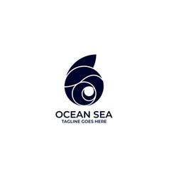 ocean design concept template vector image