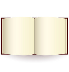 Opened book isolated on white photo-realistic vector