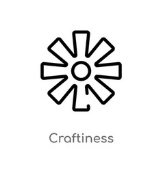 Outline craftiness icon isolated black simple vector