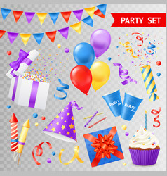 party transparent set vector image
