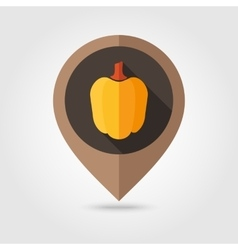 Pepper flat mapping pin icon vector image