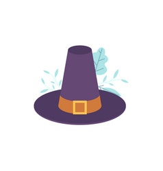 pilgrim hat flat isolated vector image
