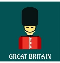 Queen guard soldier flat icon vector