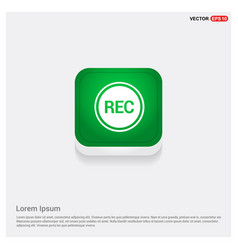 recording icon vector image