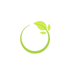 recycle eco natural icon with green leaf vector image