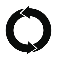 Refresh arrows black simple icon vector