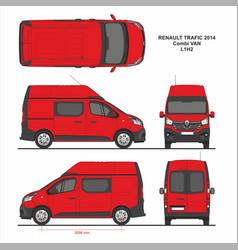 Renault trafic combi delivery van l1h2 2014 vector