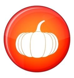 Ripe pumpkin icon flat style vector