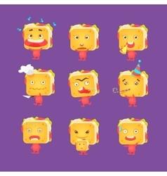 Sandwich Character Set vector