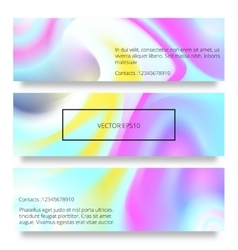 set of watercolor hand drawn marbling vector image