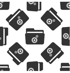settings folder icon seamless pattern vector image