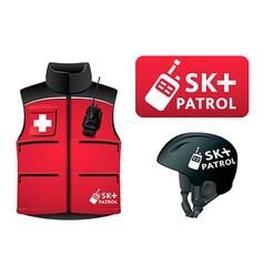 ski patrol style vector image