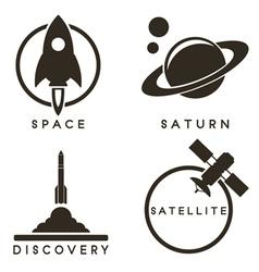 Space emblems vector