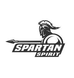Spartan spirit symbol logo vector