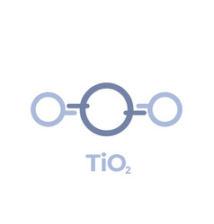 Titanium dioxide molecule icon on white vector