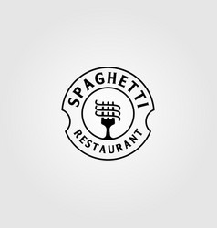 vintage spaghetti pasta instant noodle logo design vector image
