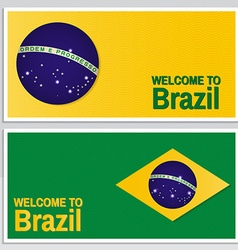 Welcome to Brazil Set of patriotic banner for vector