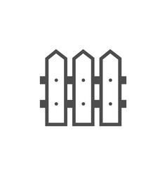 wooden fence black icon garden accessory vector image