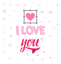 comic banner - i love you hand drawing vector image