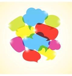 Design element of colorful transparent bubbles vector image vector image