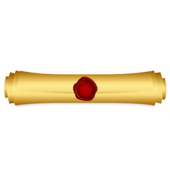 gold scroll closed vector image
