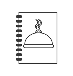 Meu plate book design vector