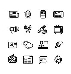 News newspaper speech technology media vector image