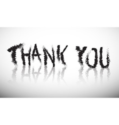 Thank You Grunge Title vector image vector image