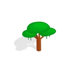 Tree icon isometric 3d style vector image vector image