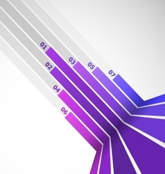 Abstract design element with violet lines vector image vector image