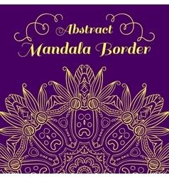 Abstract Hand-drawn Mandala-06 vector image