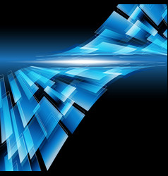 abstract technology rectangle line with light vector image vector image