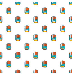 Backpack schoolbag pattern seamless vector