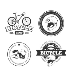 Bicycle bike vintage labels emblems vector image
