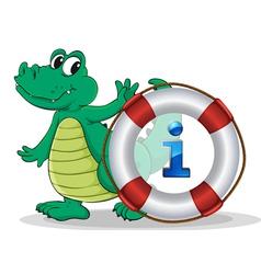 Crocodile Information Kiosk Sign vector image