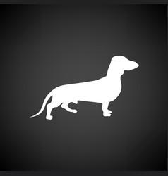 dachshund dog icon vector image