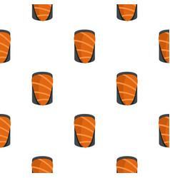 salmon pattern seamless vector image
