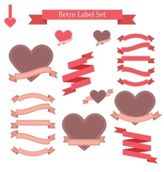Set of retro labels ribbons banners and tags vector image vector image