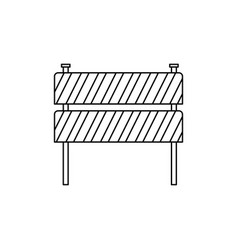 traffic fence flat icon monochrome silhouette vector image
