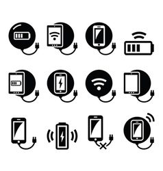 Wireless charging pad for smartphone or tablet vector image vector image