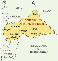 Central African Republic - map vector image