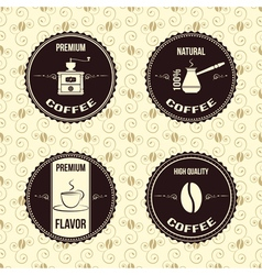 coffee vintage labels vector image vector image
